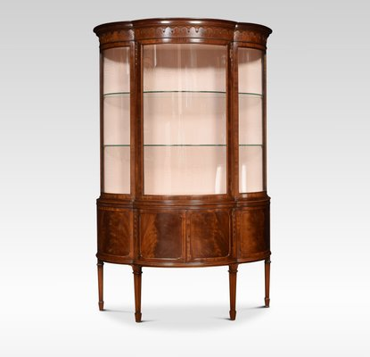 Antique Mahogany Bow Fronted Display