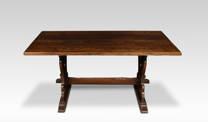 Sensational Antique Oak Plank Top Refectory Table Short Links Chair Design For Home Short Linksinfo