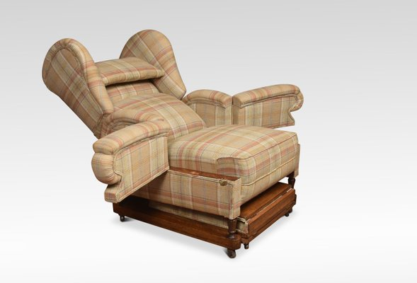 19th Century Reclining Wing Armchair For Sale At Pamono