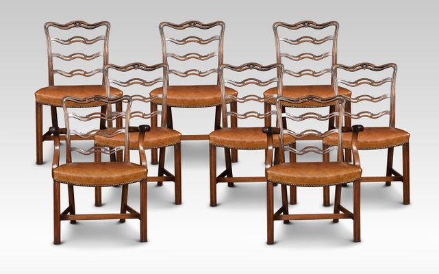 Miraculous Antique Mahogany Ribbon Back Dining Chairs Set Of 8 Short Links Chair Design For Home Short Linksinfo