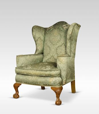 Antique George Iii Style Wing Armchairs Set Of 2 For Sale At Pamono