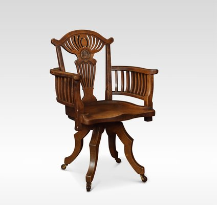 Super Antique Oak Desk Chair Gmtry Best Dining Table And Chair Ideas Images Gmtryco