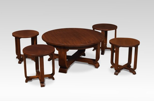 Coffee Table With Stools.Round Art Deco Side Tables Or Stools Set Of 5