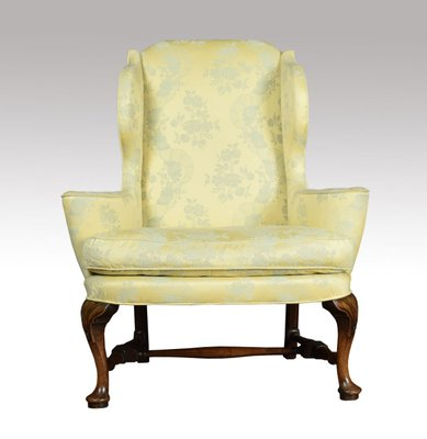 Sensational Antique Queen Anne Style Wing Armchair Gmtry Best Dining Table And Chair Ideas Images Gmtryco