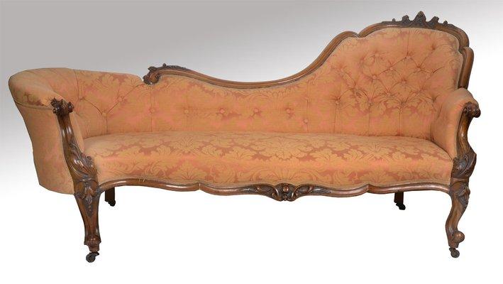 Victorian Walnut Framed Living Room Set, 1870s