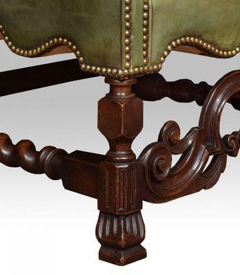 Antique Carolean Style Walnut High Back