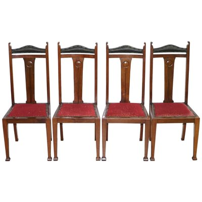Arts Crafts Dining Room Chairs Set Of 4 Bei Pamono Kaufen