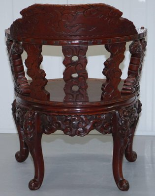 Remarkable Chinese Qing Dynasty Carved Redwood Dragon And Lion Foo Dogs Armchair 1870S Download Free Architecture Designs Scobabritishbridgeorg
