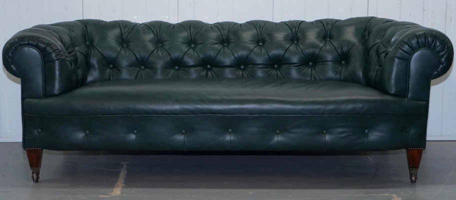 Antique Chesterfield Leather Sofa for sale at Pamono