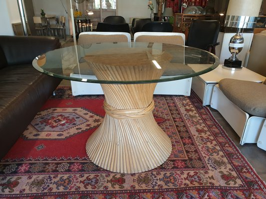 Bamboo Dining Table From Mcguire 1960s 1