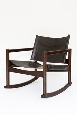 Pleasant Mid Century Modern Leather Rocking Chair By Michel Arnoult Pdpeps Interior Chair Design Pdpepsorg