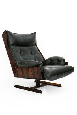 Miraculous Brazilian Set With Jacaranda Green Leather Lounge Chair Ottoman By Novo Rumo 1960S Short Links Chair Design For Home Short Linksinfo