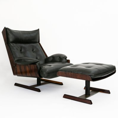 Astonishing Brazilian Set With Jacaranda Green Leather Lounge Chair Ottoman By Novo Rumo 1960S Ibusinesslaw Wood Chair Design Ideas Ibusinesslaworg