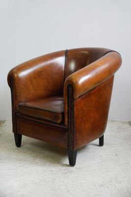 Awe Inspiring Vintage Dutch Leather Childrens Armchair From Lounge Atelier 1980S Pabps2019 Chair Design Images Pabps2019Com