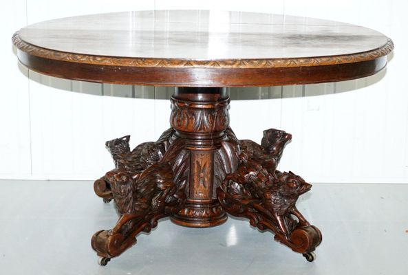 Miraculous Victorian Solid Oak Dining Table 1880S Home Interior And Landscaping Ologienasavecom
