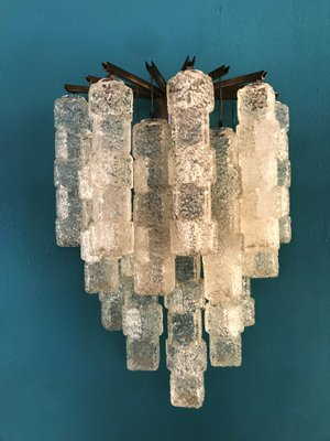 Large Ice Cube Wall Light From Mazzega 1960s