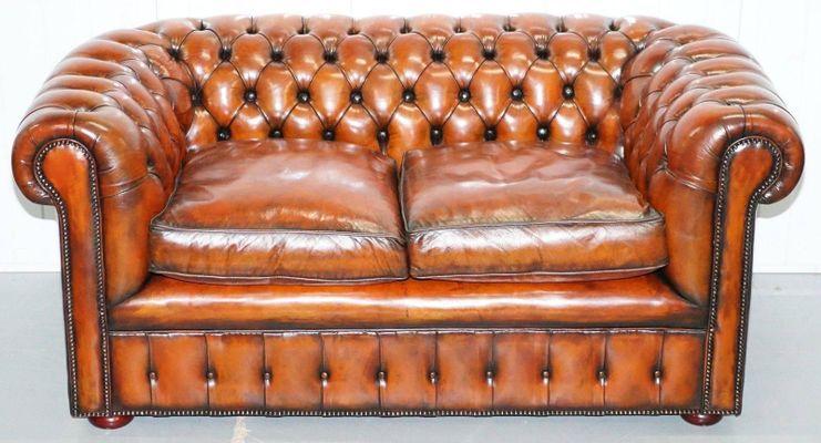 English Chesterfield Club Sofa 1930s 1