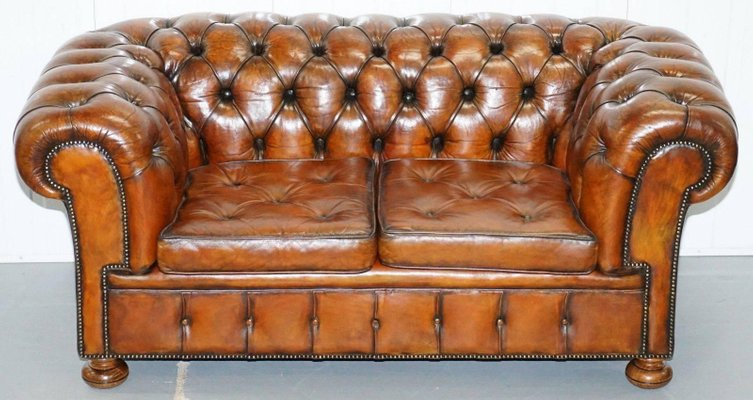 Admirable Vintage Brown Leather Chesterfield Sofa Download Free Architecture Designs Scobabritishbridgeorg