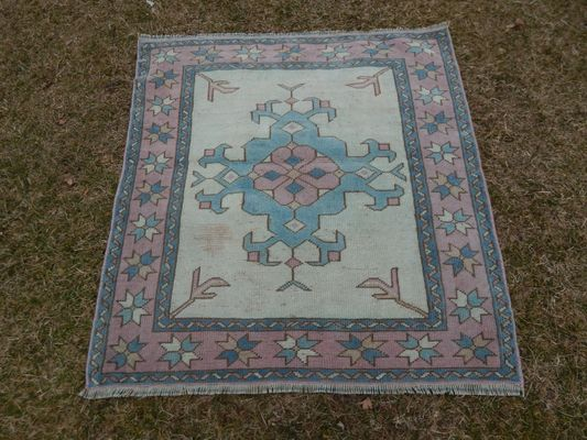 Large Square Floor Mat 1970s 1