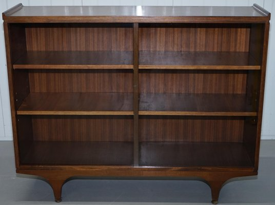 Libreria Con Ante Di Vetro.Librerie Mid Century In Teak Con Ante Scorrevoli In Vetro Set Di 2