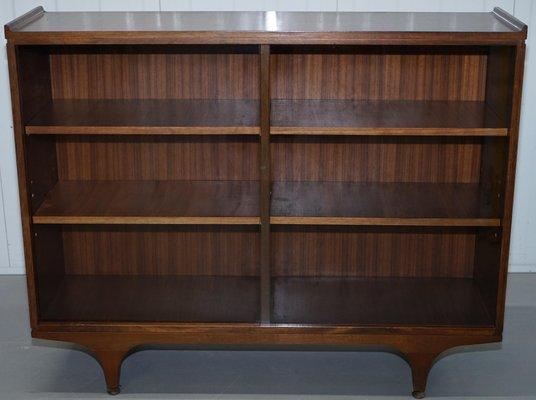 Librerie Mid-Century in teak con ante scorrevoli in vetro, set di 2 ...