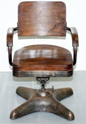 Industrielle Bureau En Chaise De Acier1920s OP0wkn