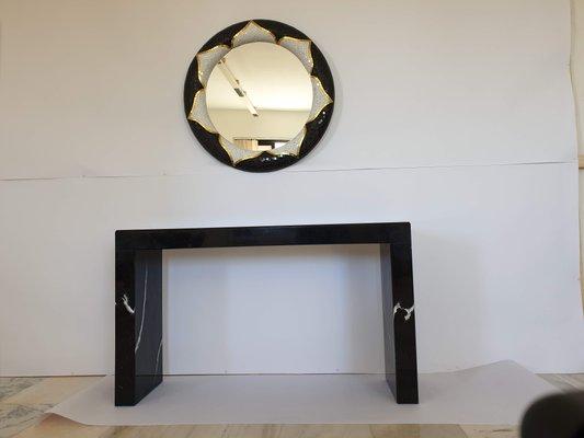 Il Mosaico E Gli Specchi 3.Specchio Fior Di Loto In Marmo E Mosaico Di Egram In Vendita Su Pamono