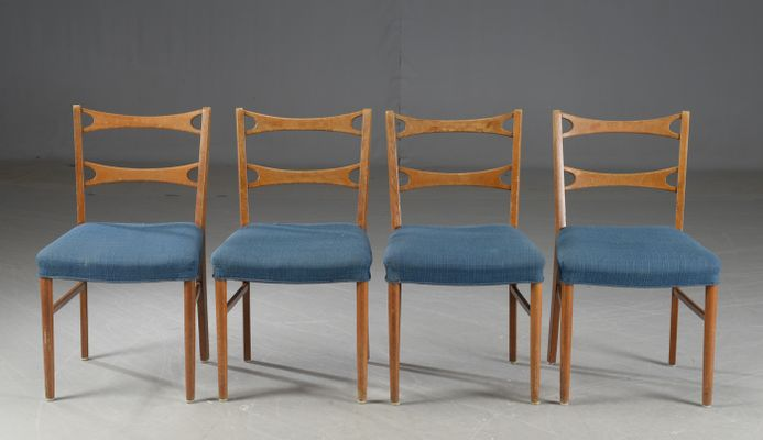 a2465a79dcaf Vintage Danish Oak Dining Chairs, Set of 4 for sale at Pamono