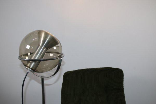 Vintage Stehlampe mit kugelförmigem Schirm von Franck Ligtelijn für Raak  Amsterdam