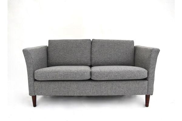 Superb Vintage Danish Grey Wool 2 Seater Sofa 1970S Spiritservingveterans Wood Chair Design Ideas Spiritservingveteransorg
