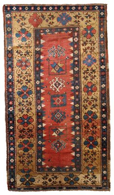 Antique Caucasian Kazak Rug 1880s For