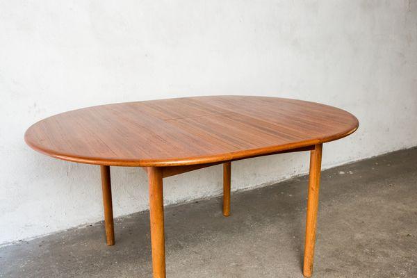 De Manger Table Avec ExtensionsDanemark1960s Salle Teck En Ronde À LMGqjSpUzV