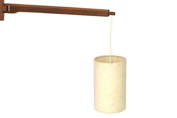Lampada da parete telescopica in legno di teak massiccio con