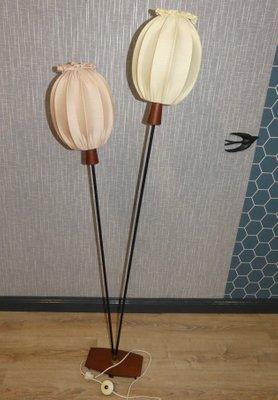 Teak Balloons Floor Lamp 1960s 2