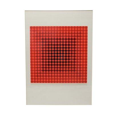 Soie Victor Vasarely1970s En Paravent Par kZOiTXPu