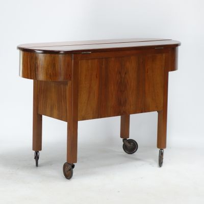Art Deco Cocktail Cabinet Trolley, 1930s 1