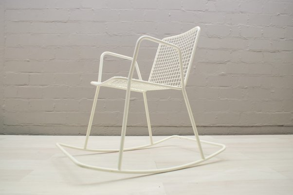 Enjoyable Vintage Indoor Or Outdoor Wire Mesh Rocking Chair 1960S Evergreenethics Interior Chair Design Evergreenethicsorg