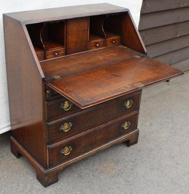Scrittoio in legno di quercia massiccio, anni \'40 in vendita su Pamono