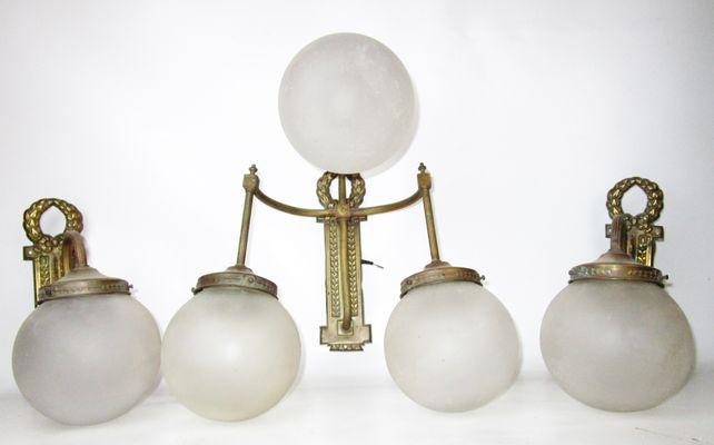 Lampade da parete antiche set di in vendita su pamono