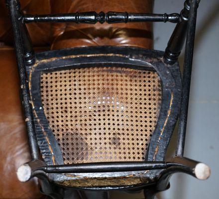 18th Century Georgian Hand Painted Chinoiserie Side Chair