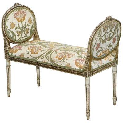 Tremendous Antique French Louis Xvi Style Renaissance Revival Window Seat Bench Theyellowbook Wood Chair Design Ideas Theyellowbookinfo