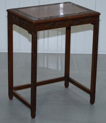 Charmant Chinese Teak Nesting Tables, 1930s