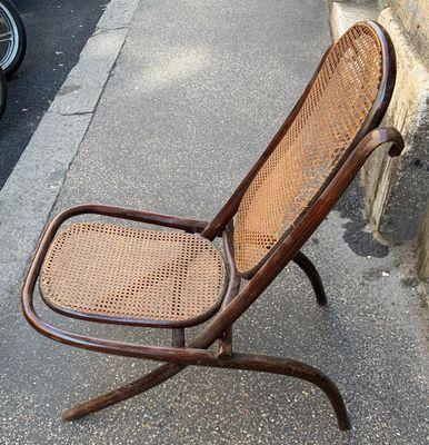 Antique Recliner Lounge Chair By Michael Thonet For Gebrüder Thonet Vienna  GmbH 1