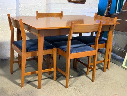 Mid Century Teak Extending Dining Table Set