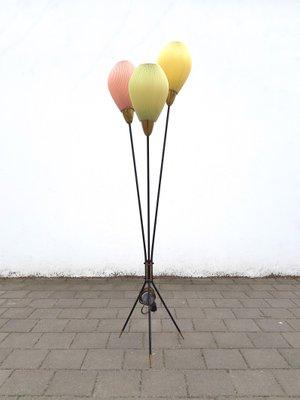 Balloons Tripod Floor Lamp 1950s 1