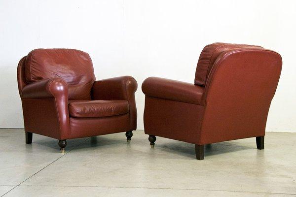 Poltrona Club Vintage.Vintage Armchairs From Poltrona Frau Set Of 2