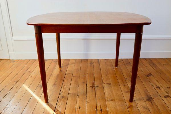 Table de Salle à Manger Scandinave en Teck par Henry Walter Klein ...