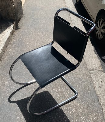 Vintage Side Chair By Ludwig Mies Van Der Rohe For Knoll 1960s Bei