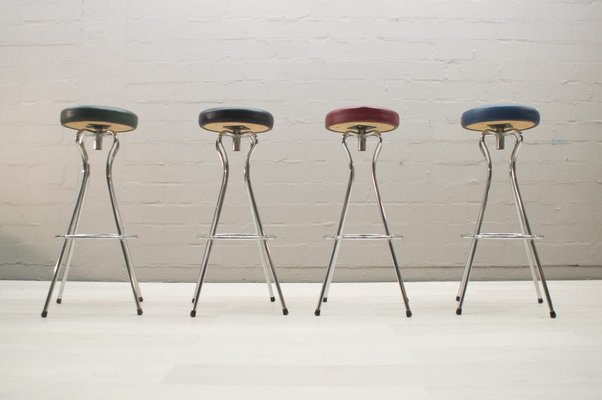 German Rotating Colored Bar Stools