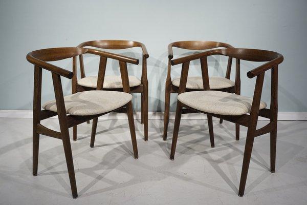 Tavolo e sedie da pranzo GE525 e G526 di Hans J. Wegner & Niels Bach per  Getama, anni \'60, set di 5
